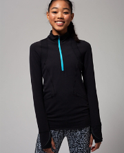 Think Fast Zip Pullover BLK 8
