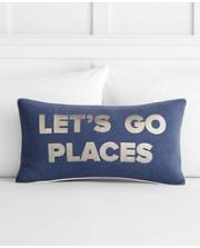 Lets Go Places Pillow