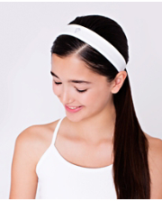 Stick It Headband WHT O/S